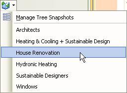 Snapshot selection menu