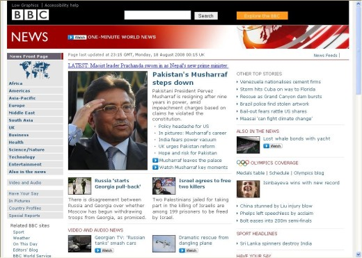 BBC News Home Page in Surfulater V3