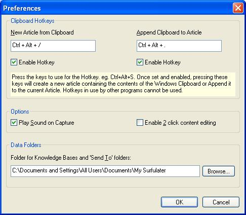 Updated Preferences Dialog